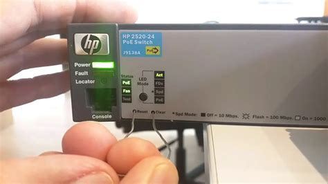 Reset Hp 2520 Switch | comment r 233 initialiser un switch hp procurve 2520 224 ses