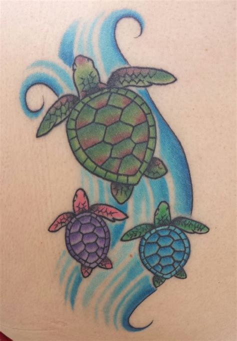 tattoos of turtles hawaiian sea turtle with babies my style