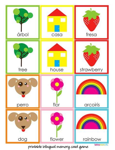 printable toddler memory game diy bilingual memory card game latina mom tips advice
