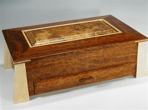 Handmade Wooden Jewellery Boxes - handcrafted wood box and contemporary jewelry box in one