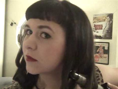bettie page hairstyle bettie page hair tutorial