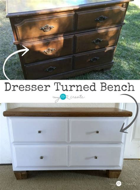 dresser turned bench 98 best images about repurposed dressers on pinterest