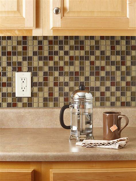 diy weekend project give your kitchen a makeover with a the social home diy quot renters quot backsplash with vinyl tile