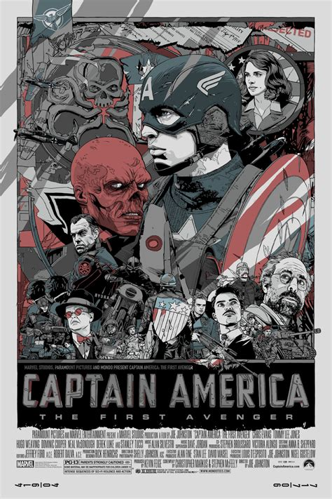 Captain America Vintage 2 Oceanseven fantastic captain america poster from olly moss and scout geektyrant