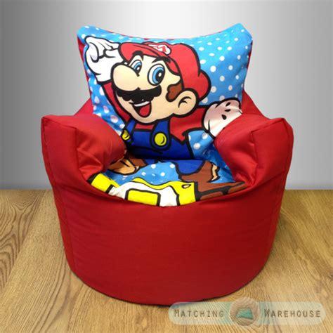 Mario Bean Bag Chair children s character bean bag chairs disney boys seat filled beanbag ebay
