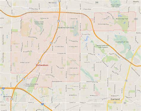 where is richardson on the map richardson map