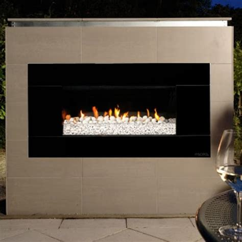 Ceramic Wood For Gas Fireplace by Escea Ef5000 Outdoor Gas Fireplace Black With