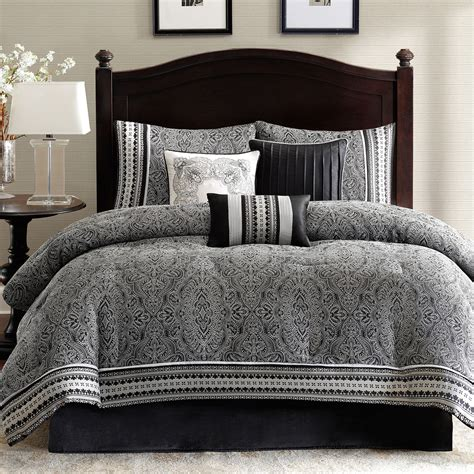 buy madison park denton 7 pc jacquard comforter set now