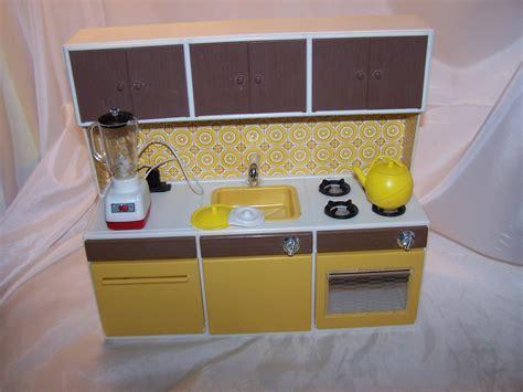 Illco Kitchen Set w Blender, Sized for Dolls, Vintage