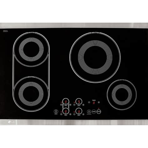 electric gas or induction cooktop lg lce30845 30 electric induction cooktop