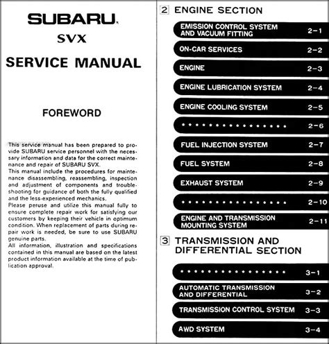 service manual buy car manuals 1992 subaru alcyone svx spare parts catalogs 1995 subaru 1992 subaru svx repair shop manual original 6 sections 4 book set