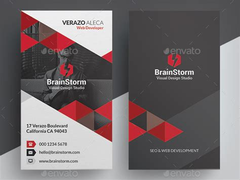 Vertical Business Card Design Templates by 81 Best Business Card Templates Free Psd Word Vector