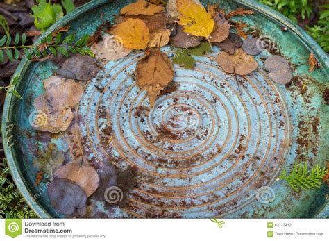 colorful bird baths colorful bird bath with spiral design from above stock