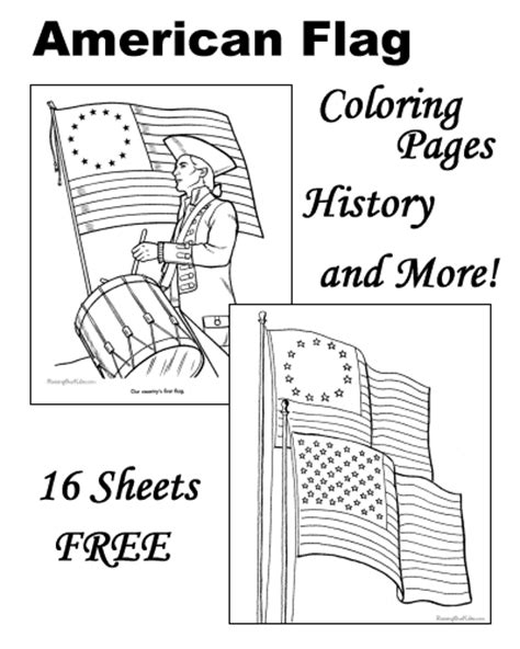 coloring page of the star spangled banner american flag