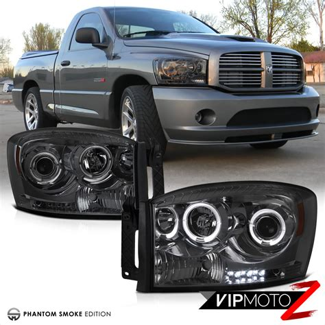 2006 dodge ram 2500 3500 smoke halo projector headlight