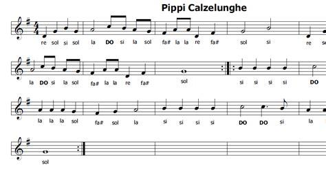 sigla pippi calzelunghe testo musica e spartiti gratis per flauto dolce pippi