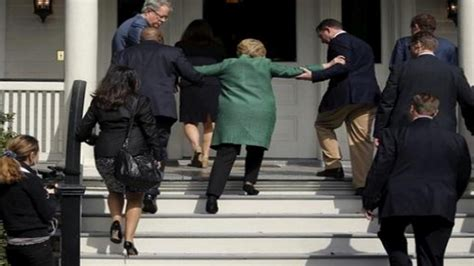 hillary clinton falling down stairs the daily caller new hillary clinton climbing stairs quot falling video
