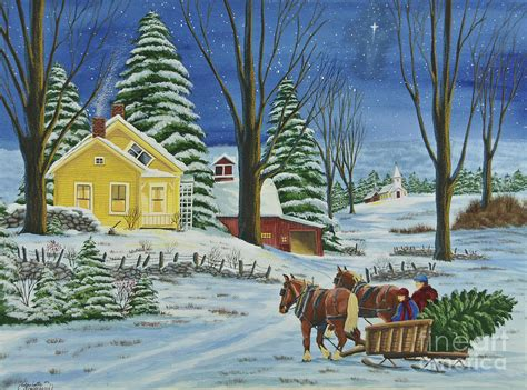 images of christmas in the country christmas eve in the country by charlotte blanchard