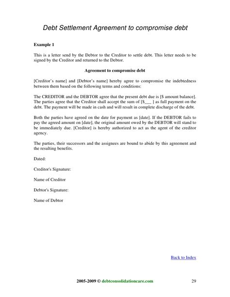 Compromise Agreement Negotiation Letter Sleletter