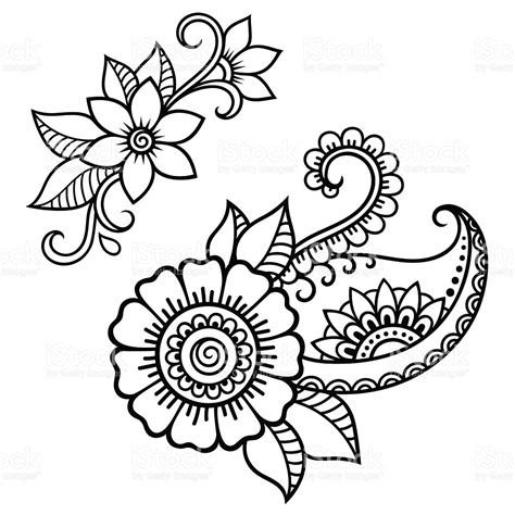 free coloring pages of henna vine henna flower coloring pages printable henna best free