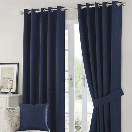 Blackout Navy Curtains Solar Navy Blackout Eyelet Curtains Dunelm