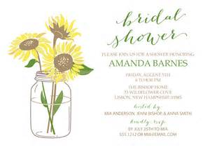 sunflower bridal shower invitation swanky press