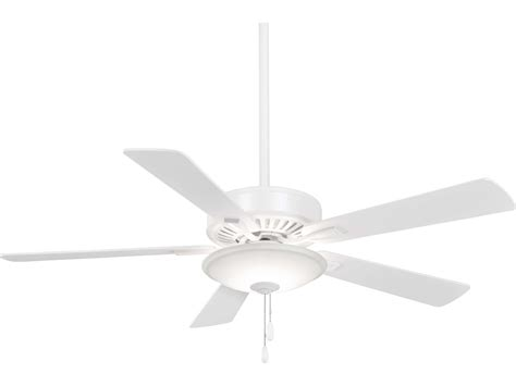 Lu Sorot Led Indoor minka aire contractor white 52 wide led indoor ceiling fan mkaf656lwh