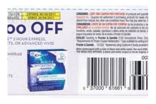printable coupon crest 3d whitening strips