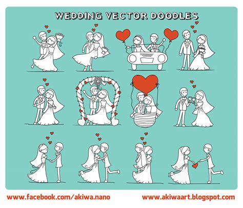 wedding doodle vector free akiwa free vector wedding doodles