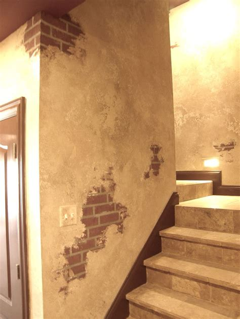 faux brick wall painting 25 best faux painted walls ideas on faux