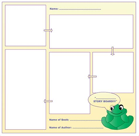 blank book template for kids storyboard templates 8 free word excel pdf ppt