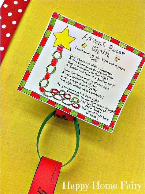 Printable Advent Calendar Paper Chain | advent paper chain countdown free printable happy home