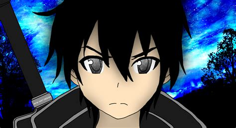 sword art  kirito colored  akw art design