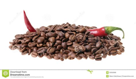 coffee and chili royalty free stock photos image 35362898