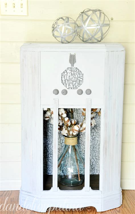 farmhouse cabinet chalky finish dandelion patina