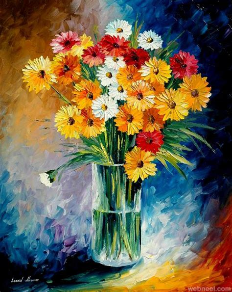 paintings of flowers flower paintings 15