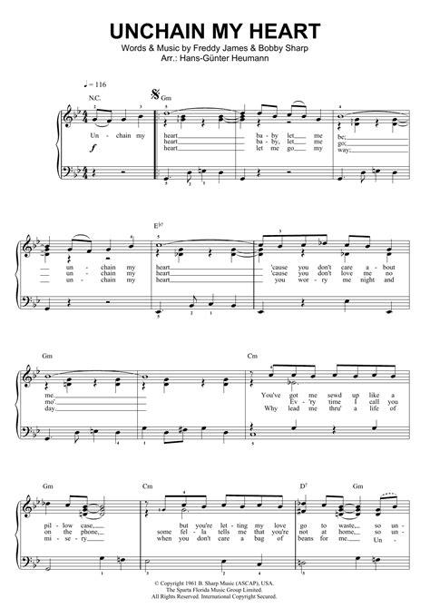 tutorial piano joe cocker unchain my heart sheet music direct