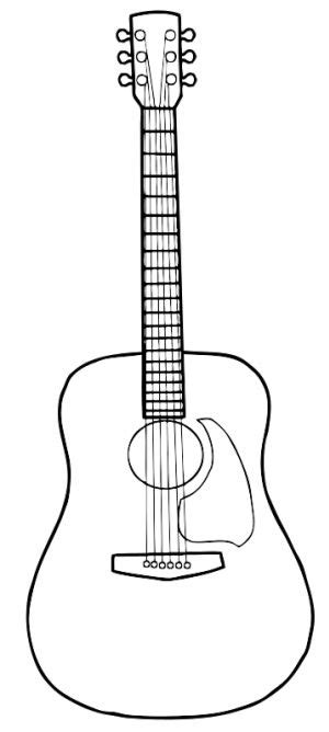 guitar pattern drawing guitar lineart to doodle tangle teaching pinterest