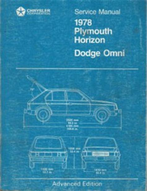 free online auto service manuals 1978 plymouth horizon seat position control plymouth horizon dodge omni service manual 1978 used