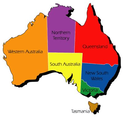 map of australia with territories australia state and territory map