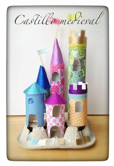 Toilet Paper Roll Castle Craft - craft with paper towel or toilet paper rolls