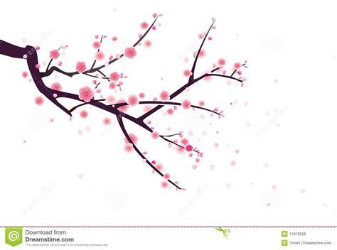 Japanese Blossom Tree cherry or plum blossom pattern stock vector image 11978356