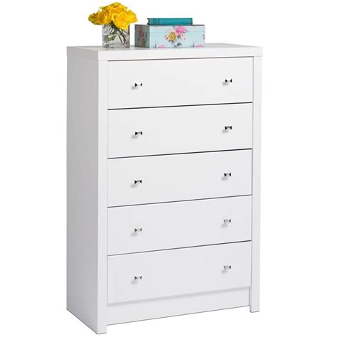 White Chest Of Drawers by White Nolita 5 Drawer Chest