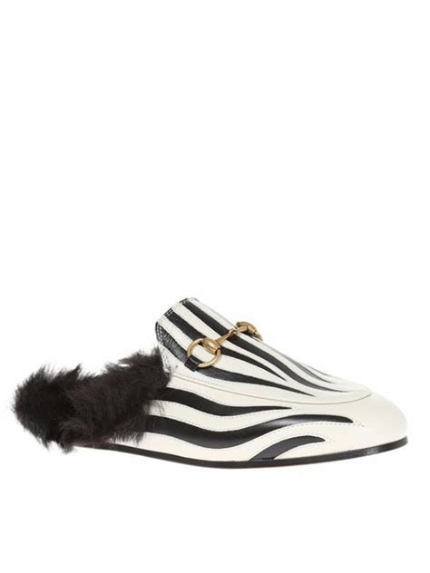 zebra loafers gucci zebra leather loafers lyst