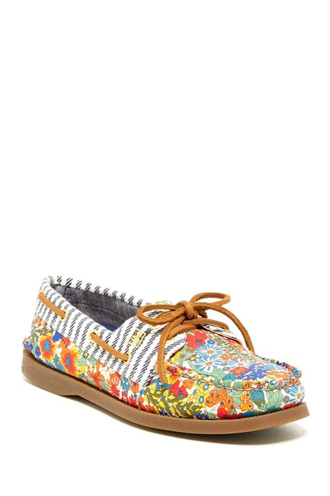 sperry liberty floral boat shoe nordstrom rack