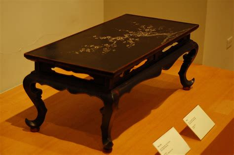 China Table by File Table China Yuan Dynasty 14th Century Lacquered