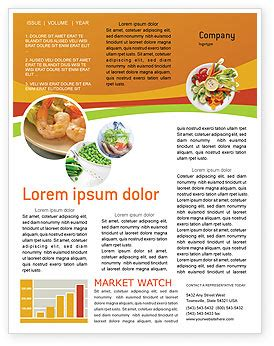 newsletter cuisine vegetarian food newsletter template for microsoft word