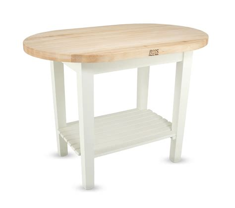 boos butcher block table john boos elliptical butcher block table c elip