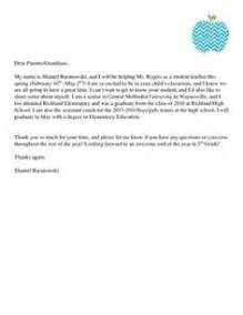 Introduction Letter Student To Parents Welcome Letters On Introduction Letter Parent Letters And Student