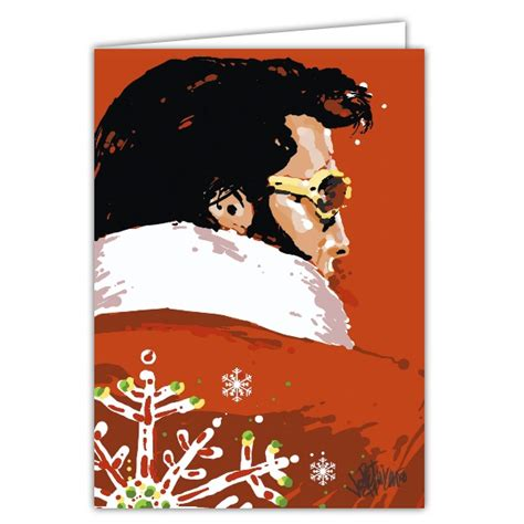 elvis greeting cards printable elvis red christmas greeting cards paperstyle